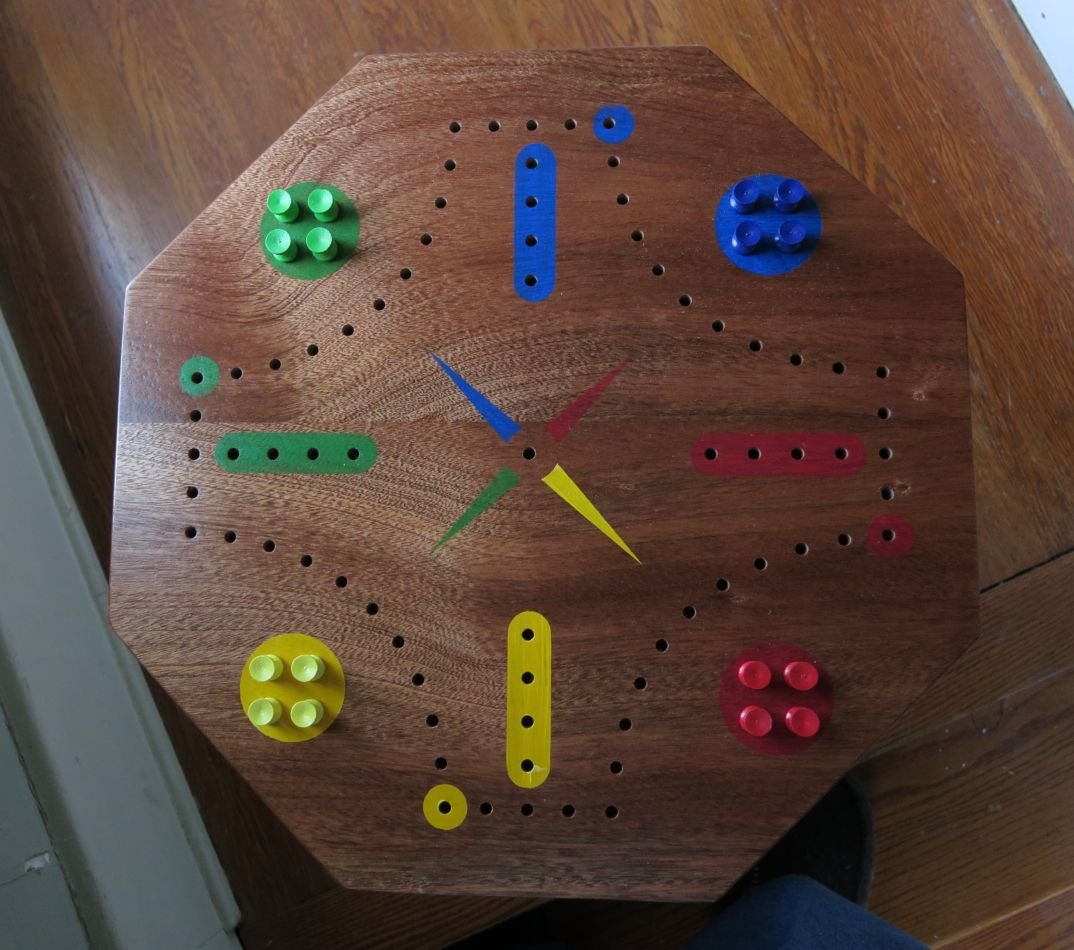 4-Player Aggravation Game Table (Top View)